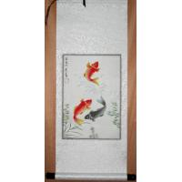Feng Shui Fish Scroll Painting