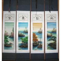 Chinese Feng Shui Boats, Four Seasons Scroll Painting
